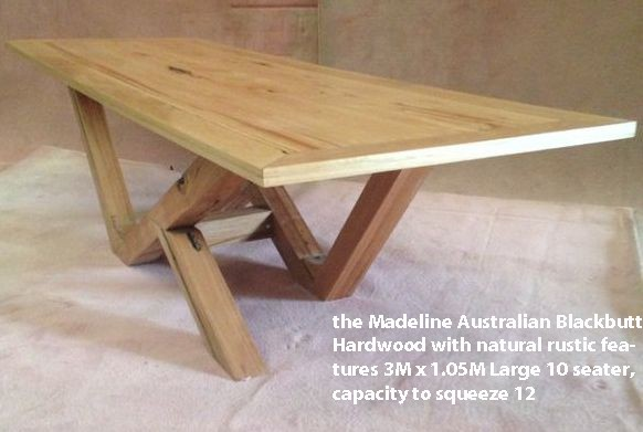 Designer Furniture dining-table-seats-10-12 Custom-Built Made to Order by Rex Bruker @ Timber Floors Pty Ltd