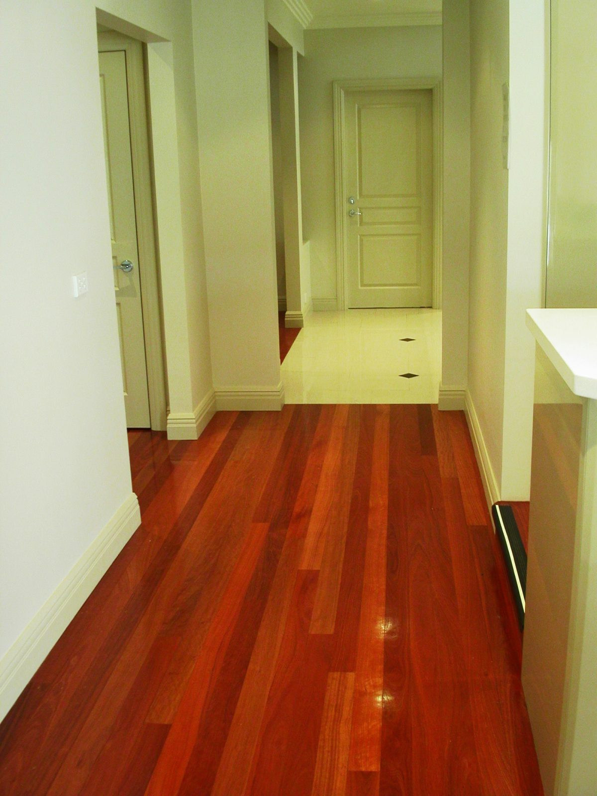 Forest Red timber flooring supplied and installed by Timber Floors Pty Ltd