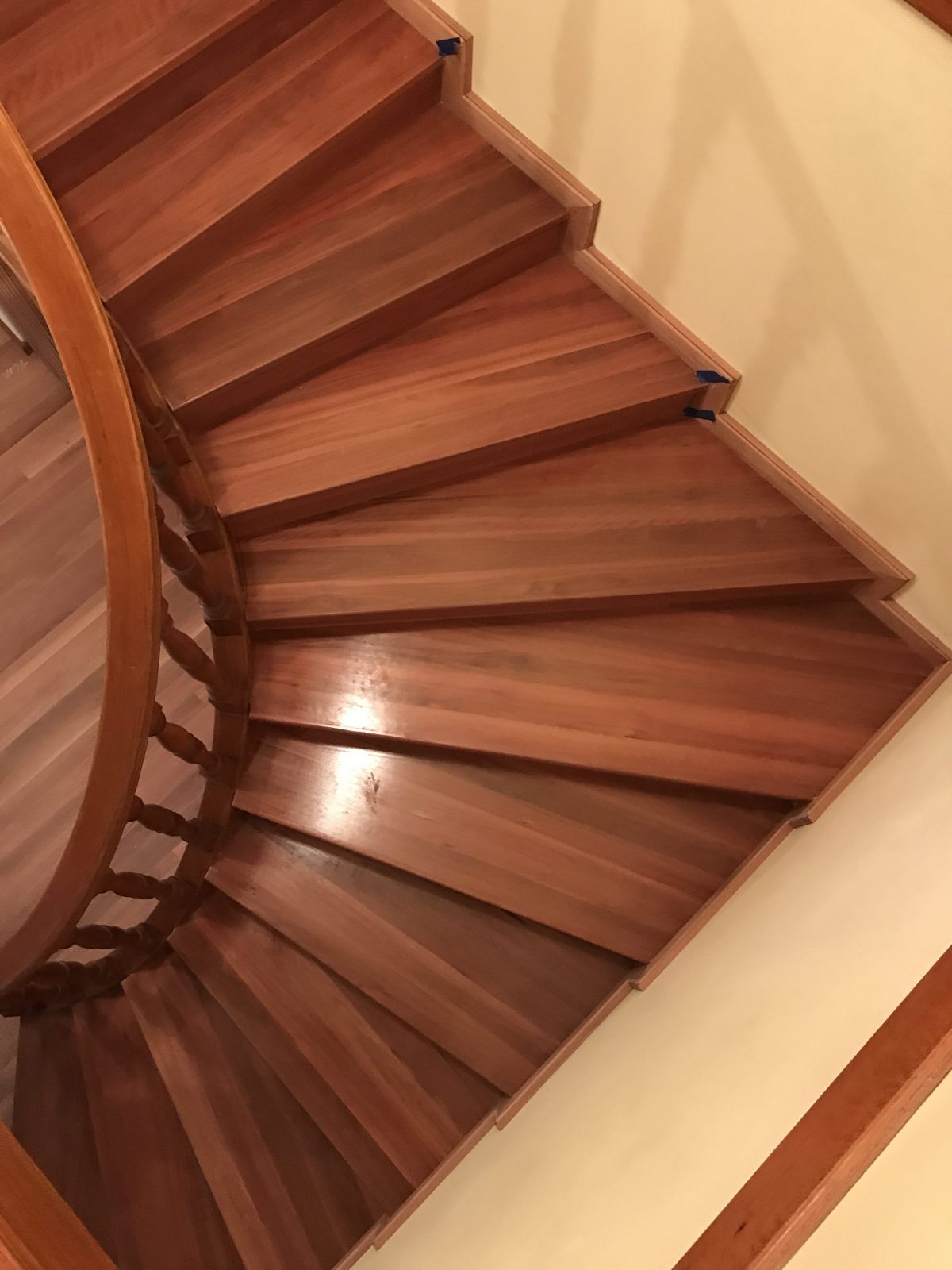 new timber flooring and Staircase makeover supplied and installed by Timber Floors Pty Ltd