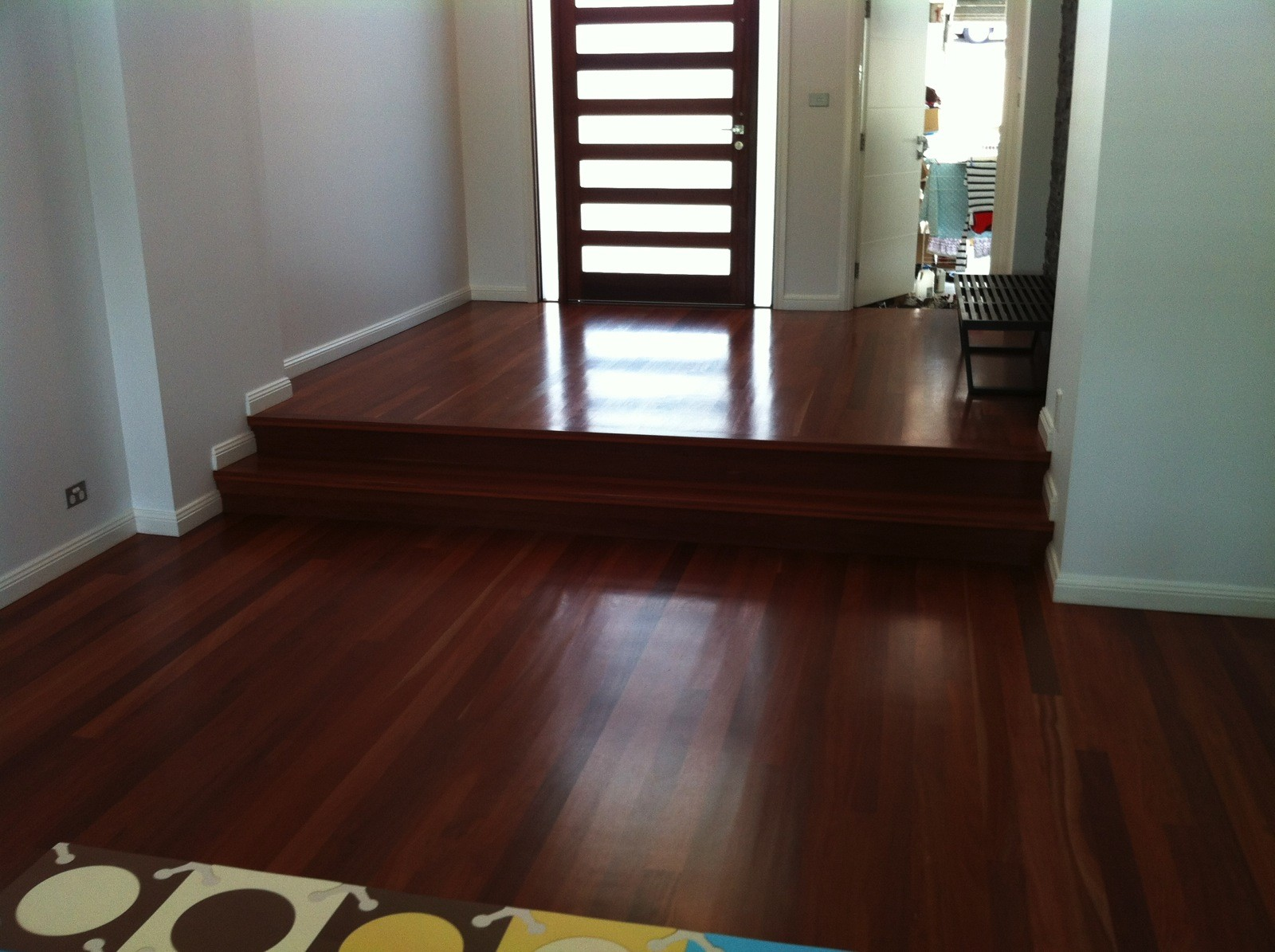 Grey Gum entry  timber flooring supplied and installed by Timber Floors Pty Ltd