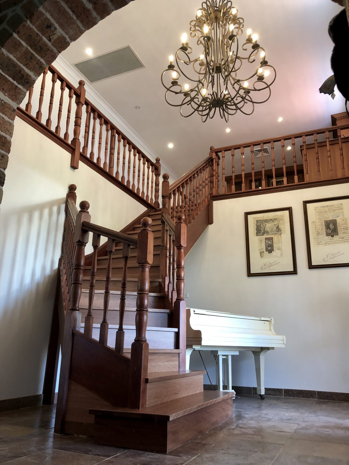 Staircase makeover supplied and installed by Timber Floors Pty Ltd