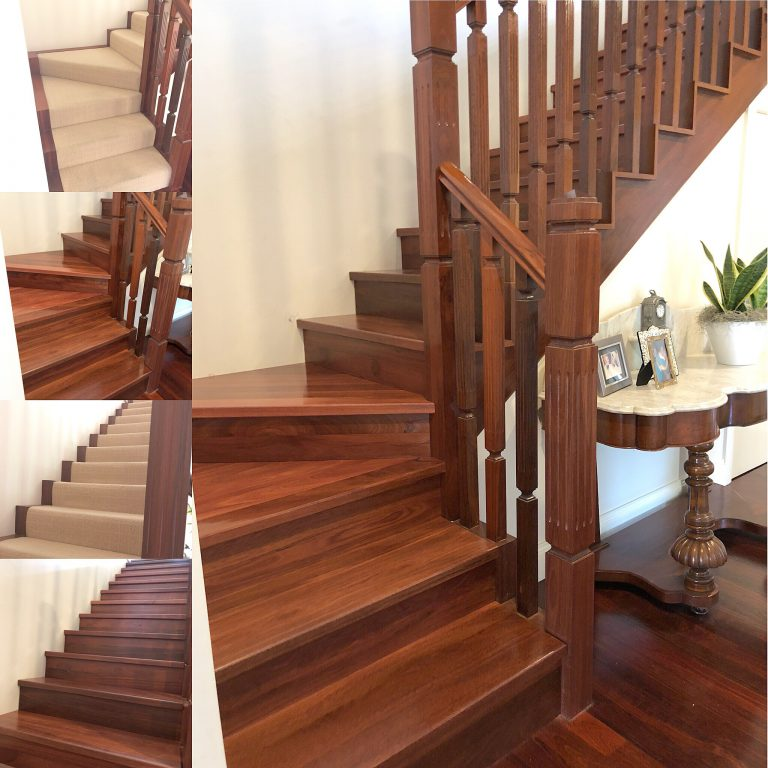 Staircase Makeover - Before and After Staircase makeover photos by Timber Floors Pty Ltd