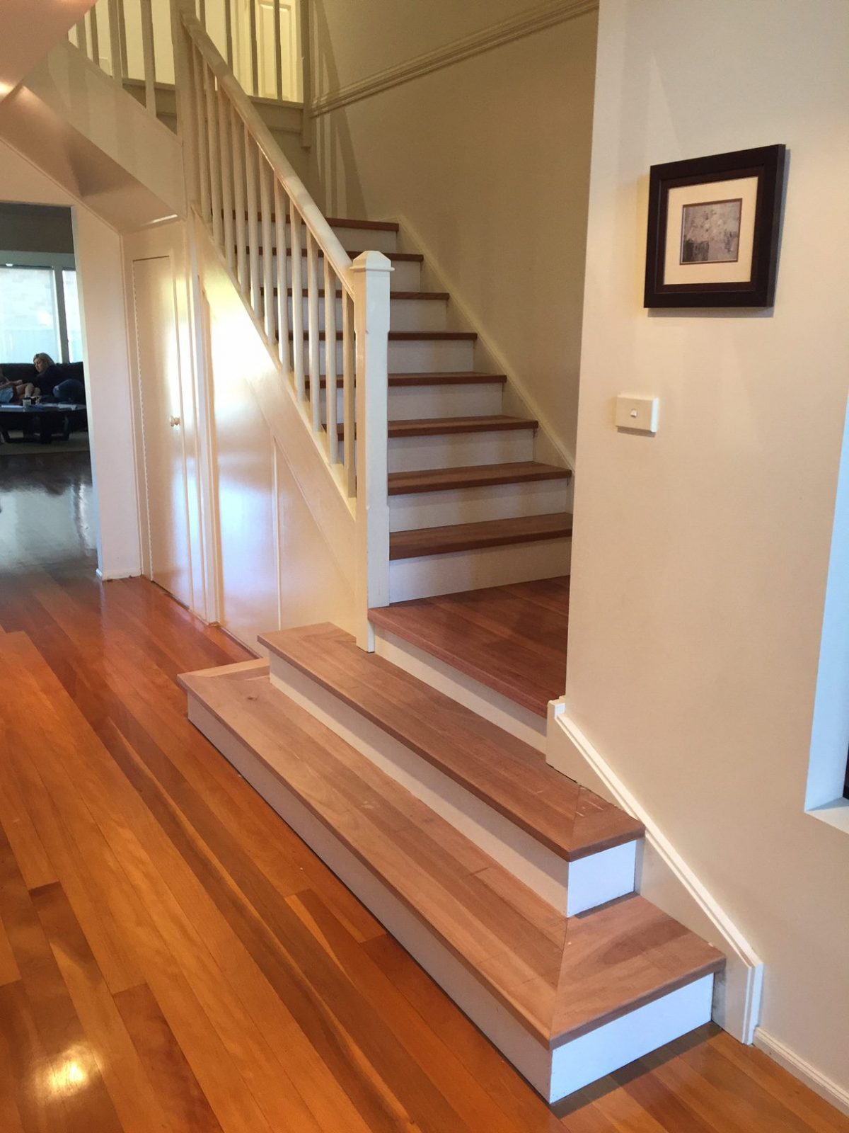 Staircase makeover - after photo by Timber Floors Pty Ltd #staircase #makeover #renovation
