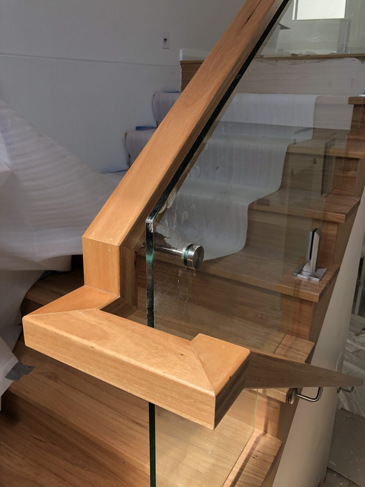 Bespoke handrail by Timber Floors Pty Ltd