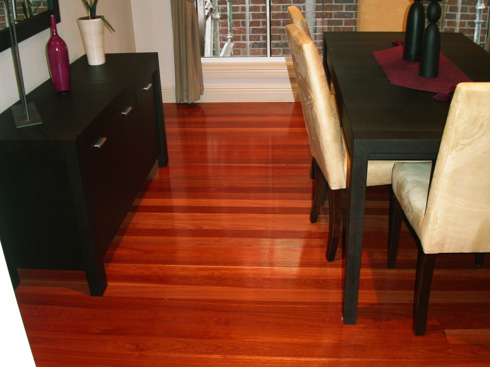 Forest Reds timber flooring in front entry supplied and installed by Timber Floors Pty Ltd