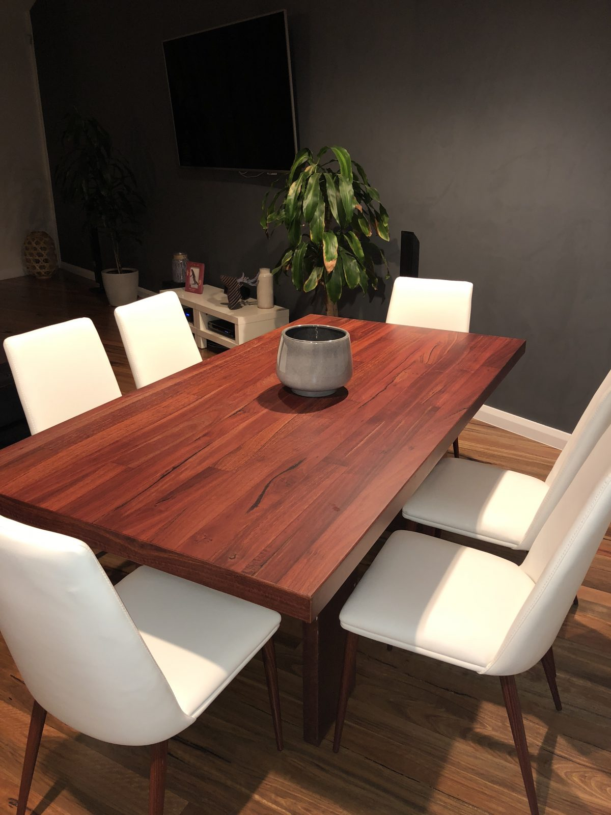 designer furniture - solid Australian Hardwqood dining table - Grey Gum by Timber Floors Pty Ltd