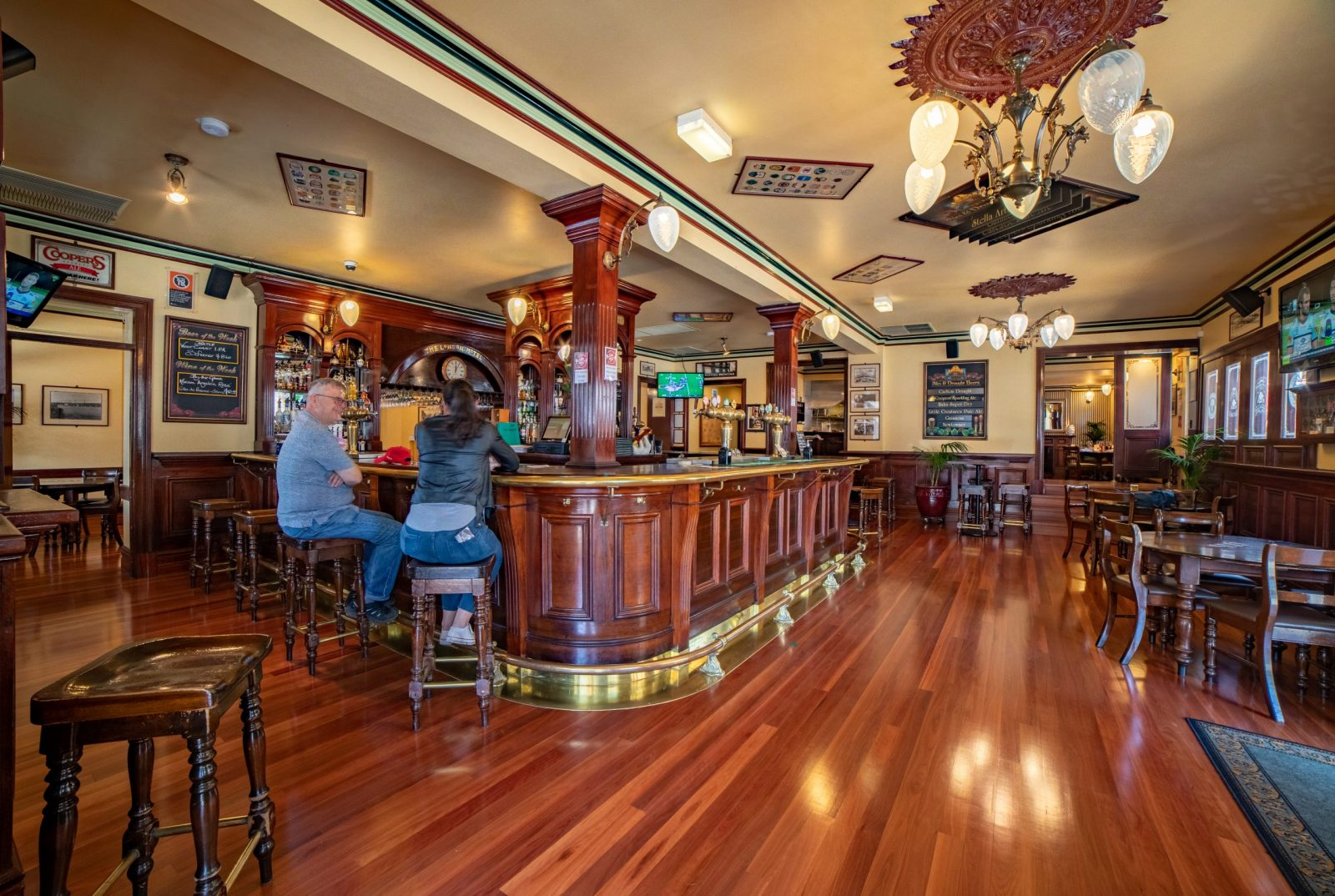 Commercial quality timber flooring supplied and installed into the London hotel - Balmain - by Timber Floors Pty Ltd